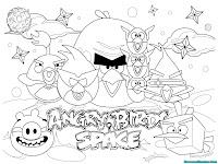 Halaman Mewarnai Gambar Angry Birds Space