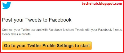 connect twitter to facebook