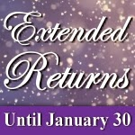 Extended return policy for the holidays by Beachcombers