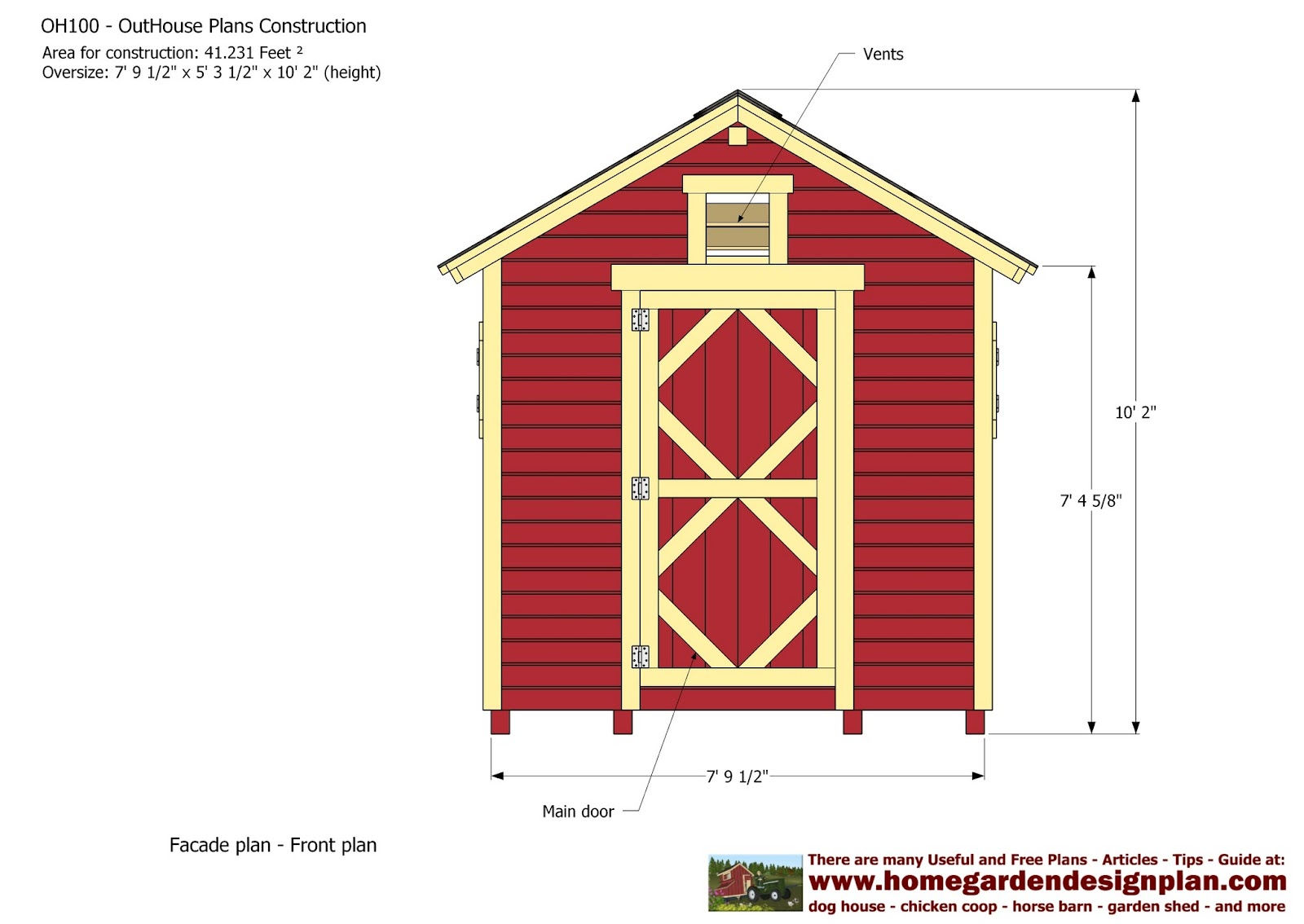 Home Garden Plans Oh100 Out House Plans Construction