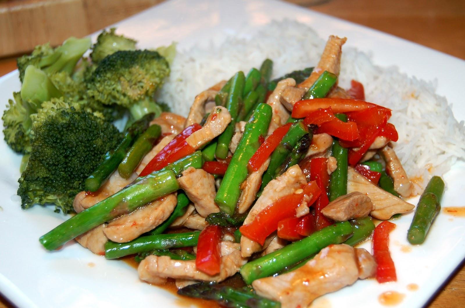 Seth's Food Blog: Pork/Asparagus/Red Pepper Stir Fry