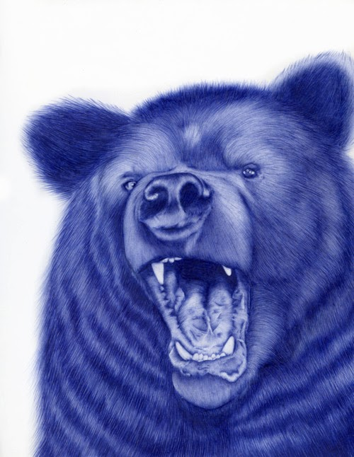 03-Bear-Sarah-Esteje-ABADIDABOU-Hyper-realistic-Ballpoint-Pen-Animals-www-designstack-co