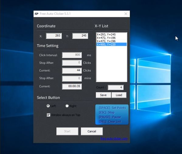 Software Auto Klik Mouse Gratis untuk Windows