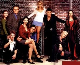 Buffy the Vampire Slayer Season three Scooby Gang with Spike and Drussila