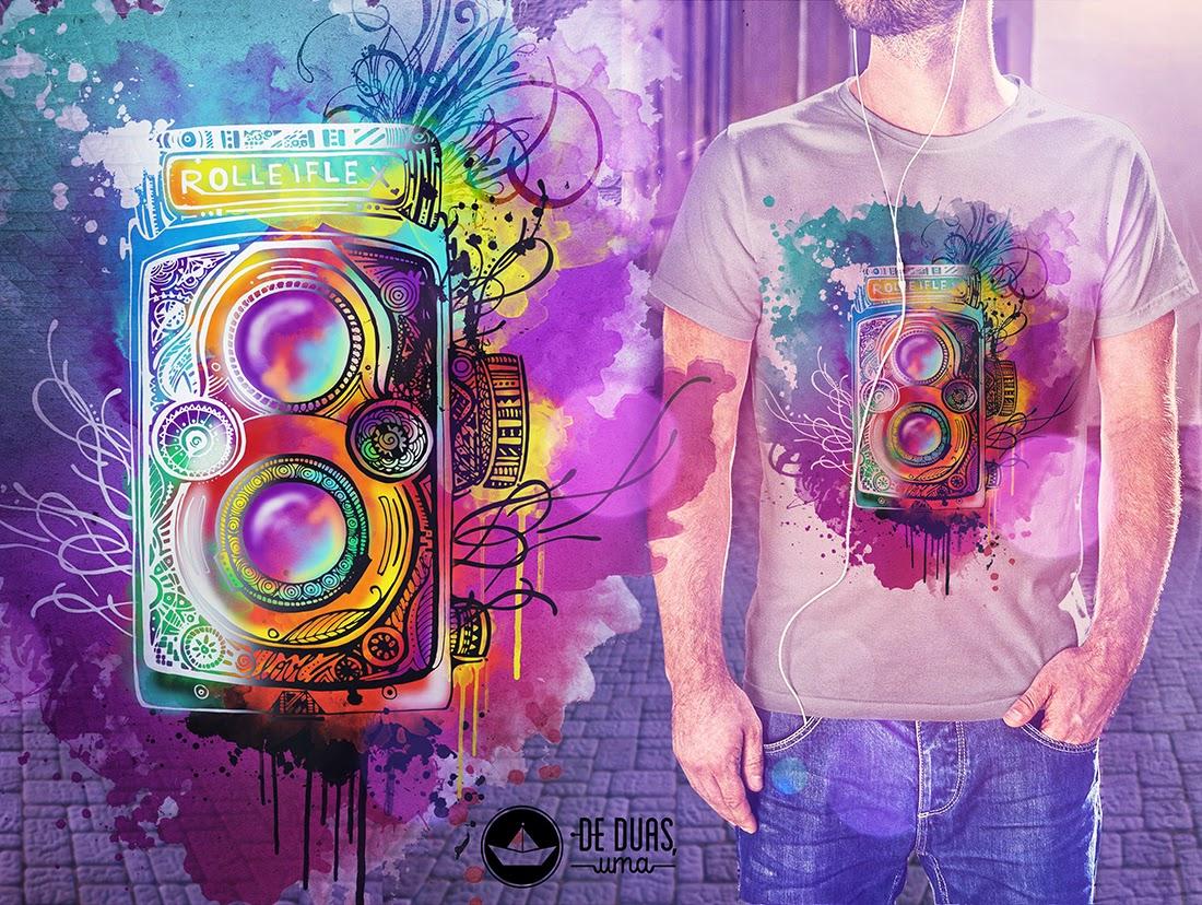 watercolor t shirt design deduasuma