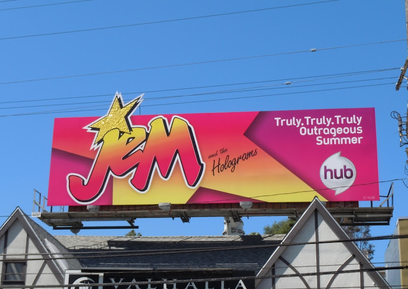 Jem and the Holograms Hub billboard