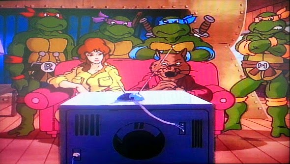 Teenage Mutant Ninja Turtles Best Of Original Series DVD Watching TV with April