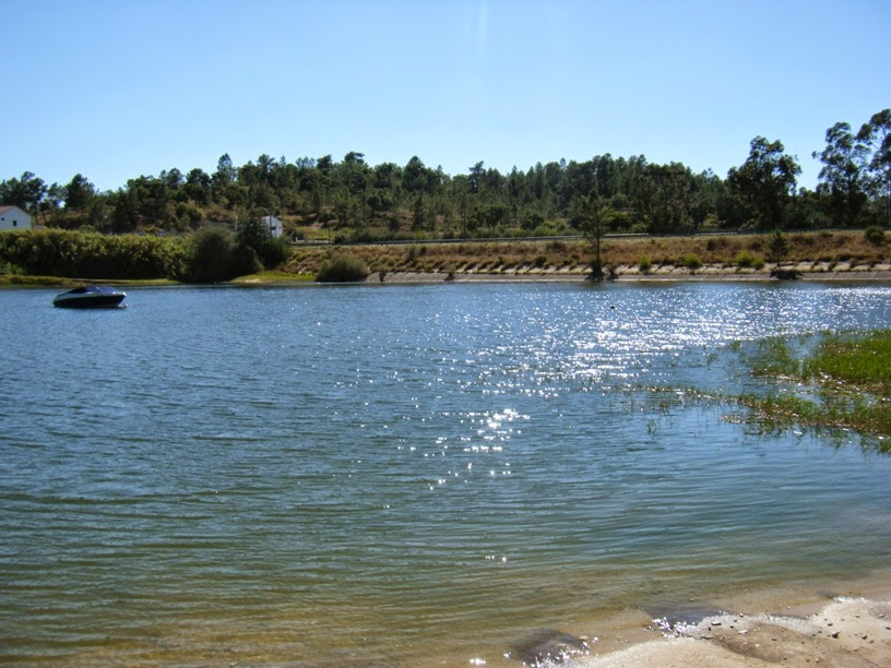 Vista da N2 da praia fluvial