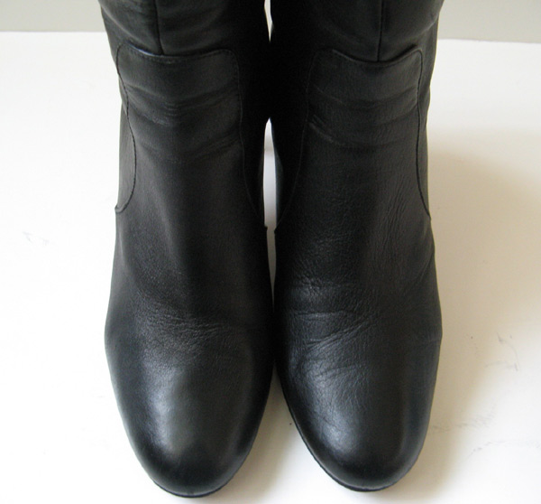 Tall Black Dress Boots Banana Republic Leather Boots Size 9