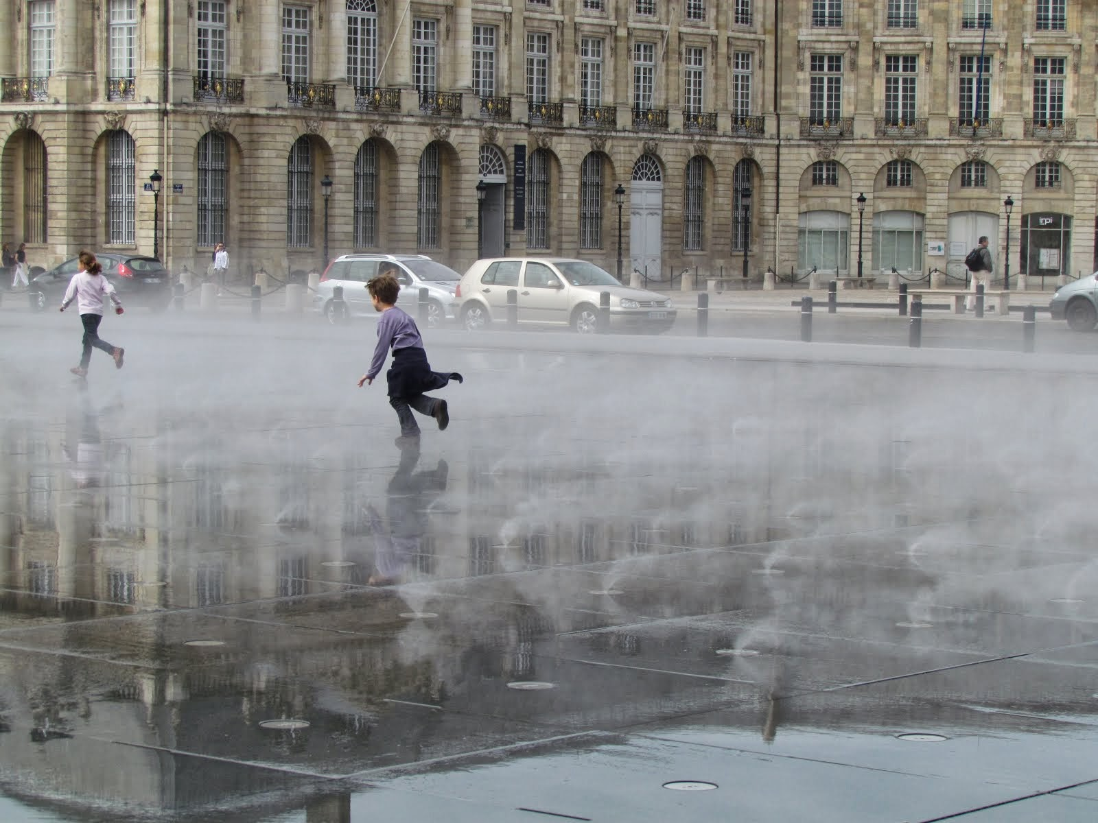 mist in bordeaux - france