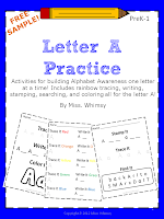 Free Sample: Letter A Practice