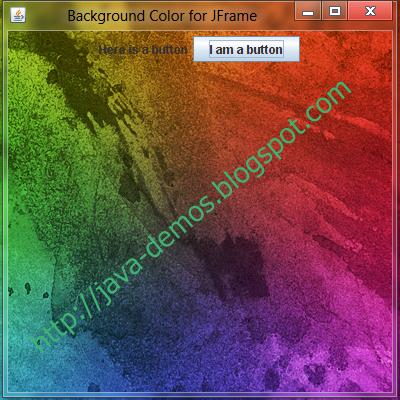 Setting Background Image in JFrame - Swing