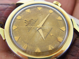 OMEGA CONSTELLATION CHRONOMETER GOLD TOP - GOLD AGING DIAL - MECHANICAL BUMPER CAL 354