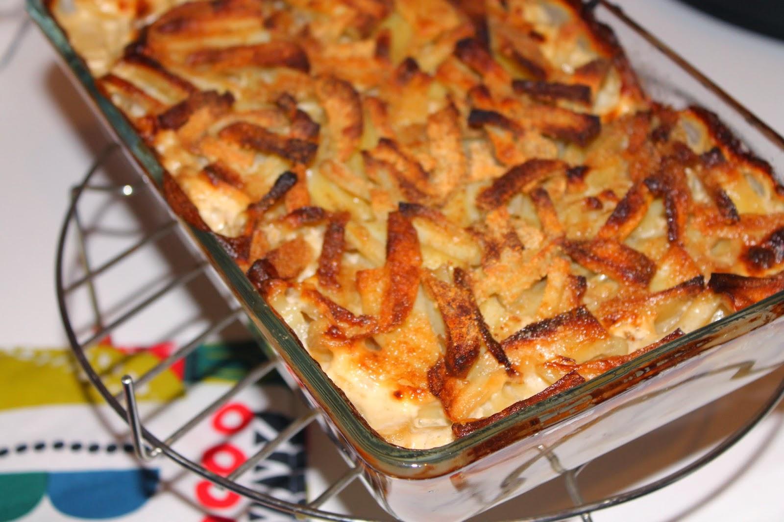 Recette gratin de pommes de terre et anchois