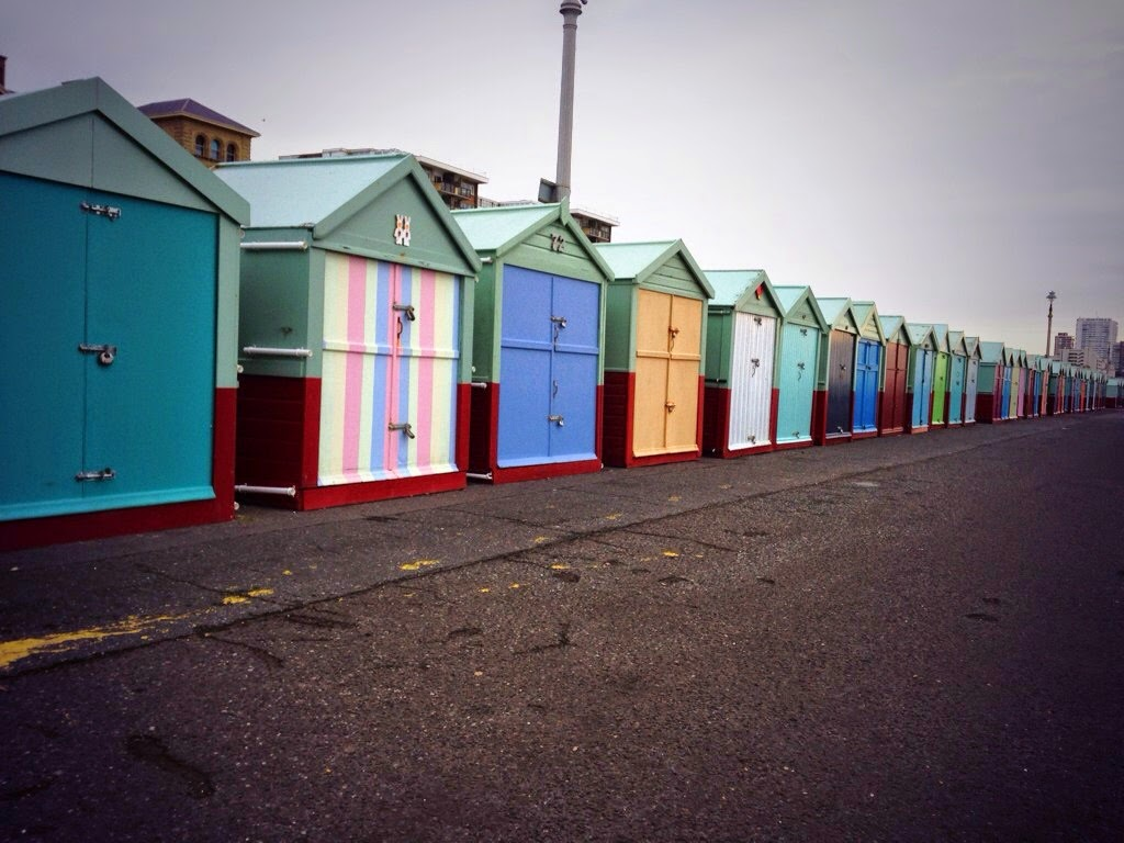 Hove seafront beach huts