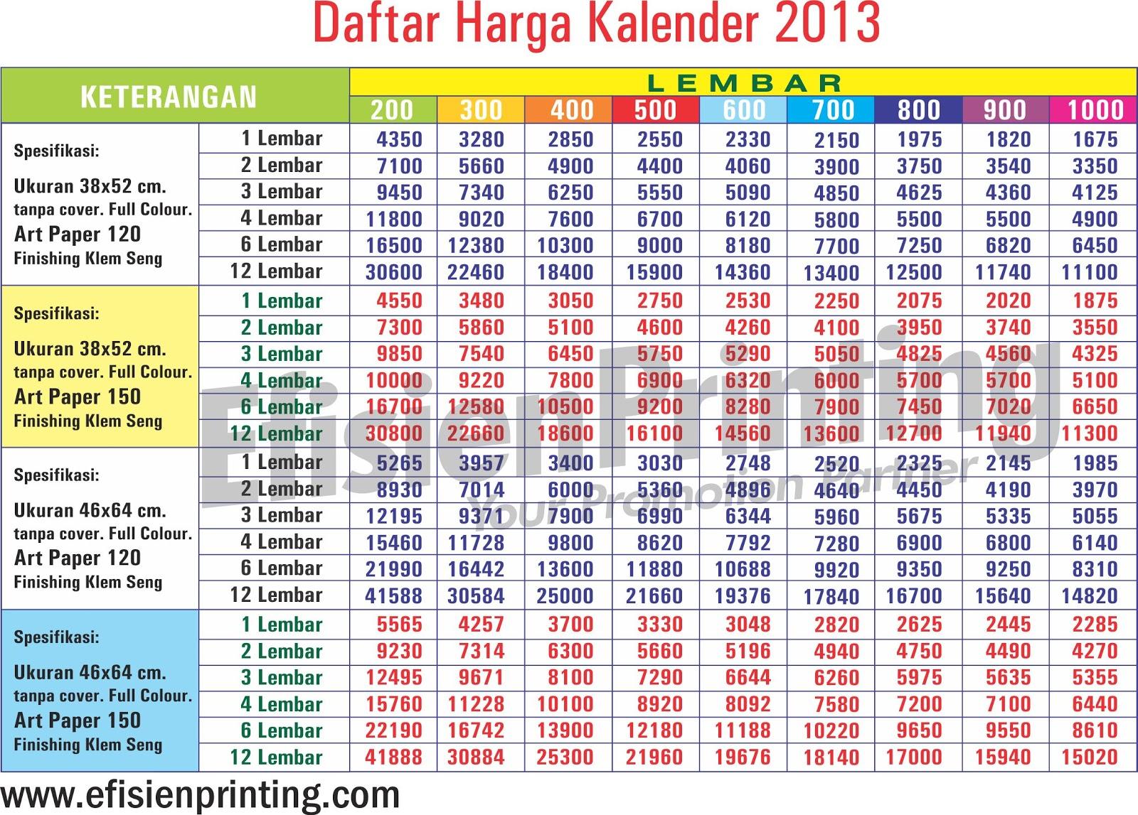 Siapkan Kalender 2013
