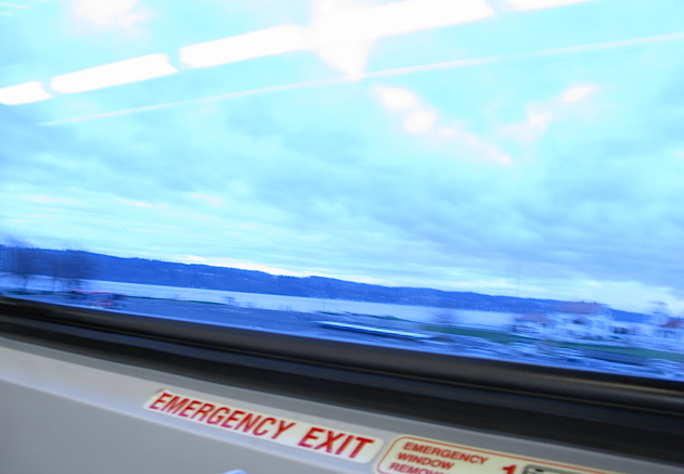 sounder train, emergency exit