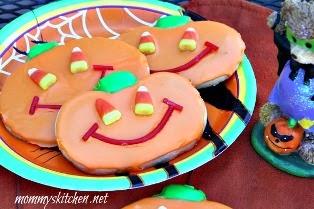 Jack O Lantern Sugar Cookies