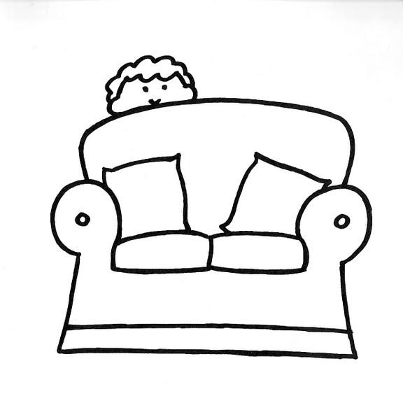 Dibujos infantiles dibujo infantil sof for Dibujar muebles
