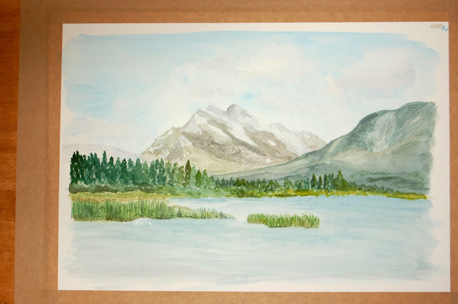 Mount Rundle painting