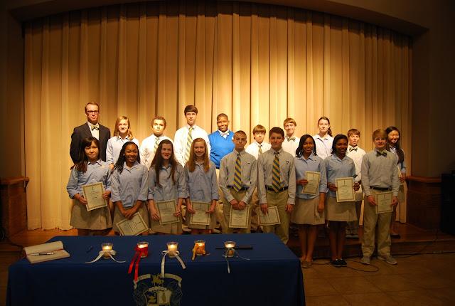 Montgomery Catholic Preparatory School Inducts 2012-2013 National Jounior Honor Society Members 1