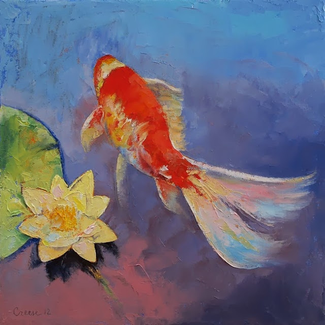 Michael creese koi paintings artists and art for Koi artwork on canvas