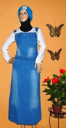 Gamis Overall Jeans Indonesia