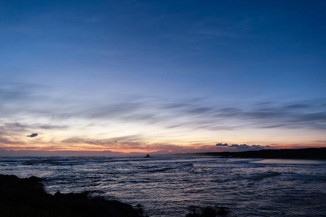 last light over ocean at gardiner point