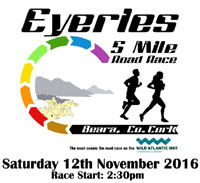 Eyeries 5 mile in West Cork...Sat 12th Nov 2016