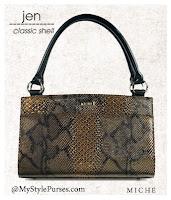 Miche Bag Jen Classic Shell, Snakeskin Purse