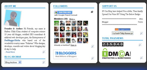 Three Column Blogger Widget