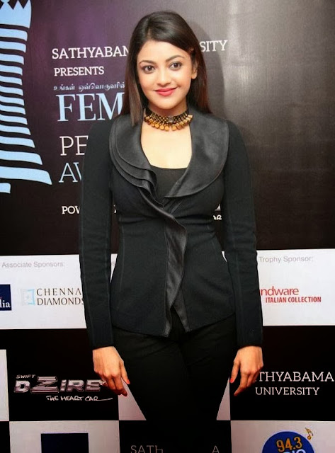 Kajal Agarwal in Black Dresses, Black Churidar, Suit and Sarees 2014-15