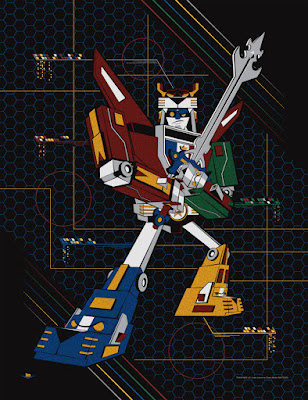 "Voltron ""The Defender"" Screen Print by Ian Glaubinger"