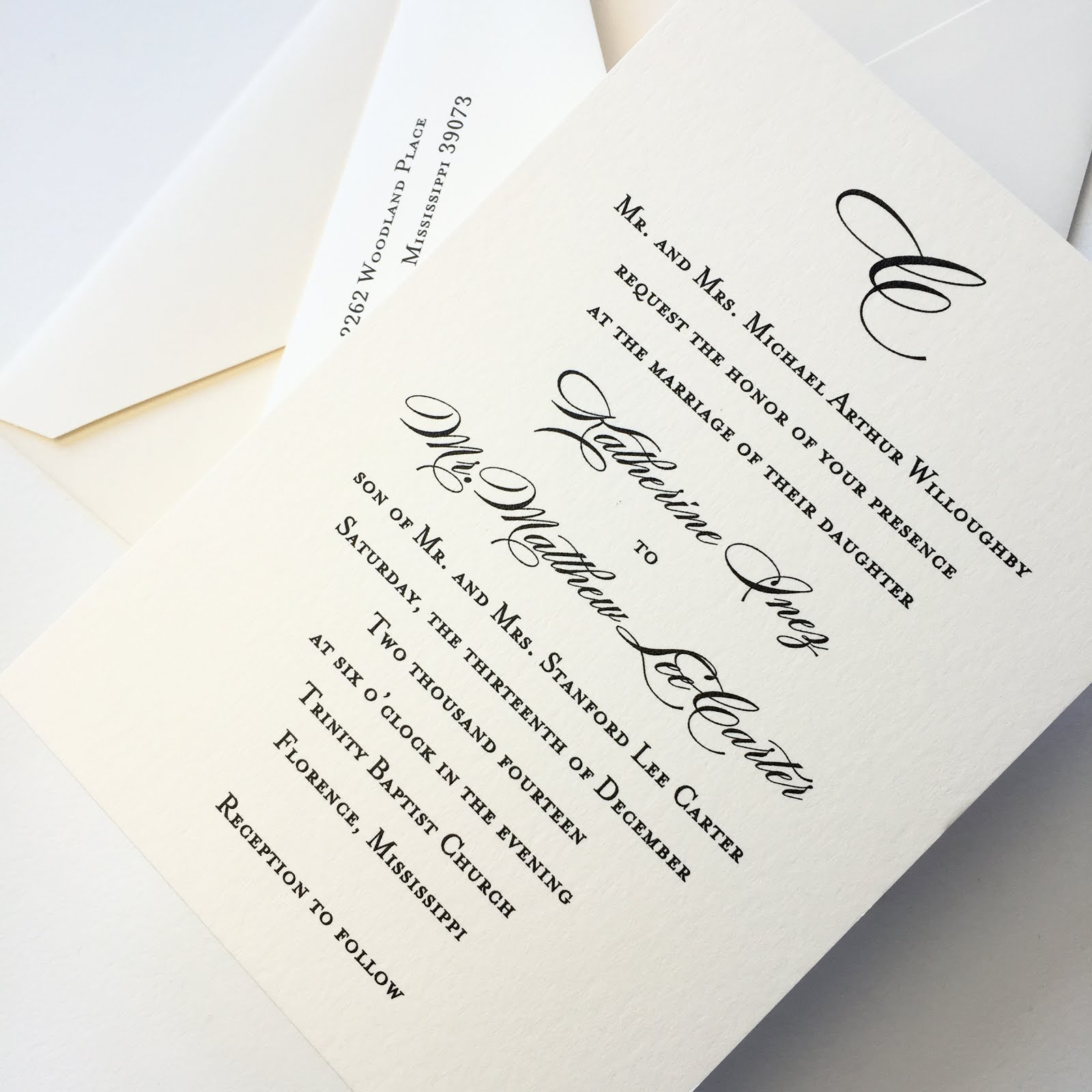 Kady Willoughby And Lee Carter Wedding Invitations Fresh Ink