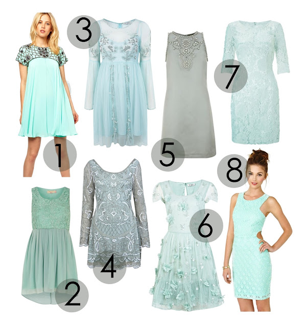 mint green embellished, beaded and sequin dresses, summer, long sleeve, cap sleeve, short sleeve, sleeveless dress, floral, patterned, vintage, pleated dresses, wheres to but pastel green dresses and how to wear them, uk fashion styling, uk fashion