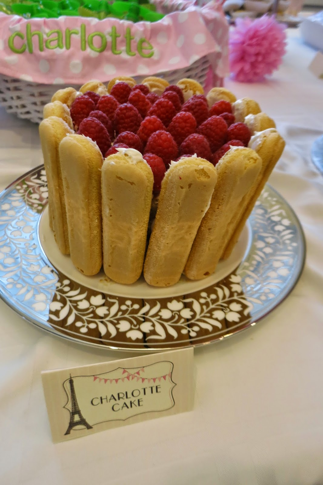 Paris-Themed Birthday Party: Charlotte Cake