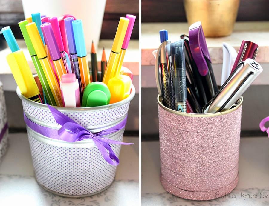 Stifteaufbewahrung selbst gemacht. Do it yourself pencil case