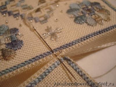 Вышивка бискорню игольница