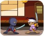 Ninja giải cứu dân làng, game hanh dong