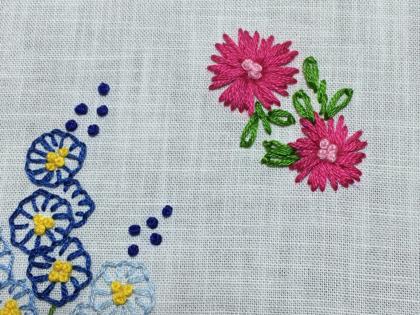 Mooshiestitch Straight Stitch Flowers