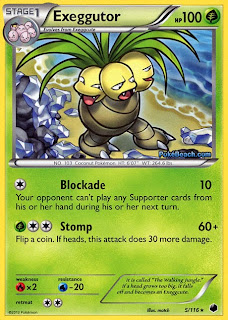 Exeggutor Plasma Freeze Pokemon Card