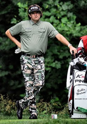 "Your Ricky Stanzi ""America, Love It Or Leave It!"" Moment of the Day: Bubba Watson's pants salute the US Military."