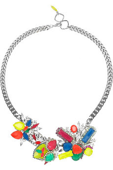 colorful statement necklaces, trend, fashion trend, trend-spotting, jewelry, Erickson Beamon Colour Me Crazy Swarovski Crystal Necklace