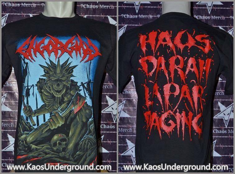 engorging band kaosunderground death metal samarinda sevenchaos merch