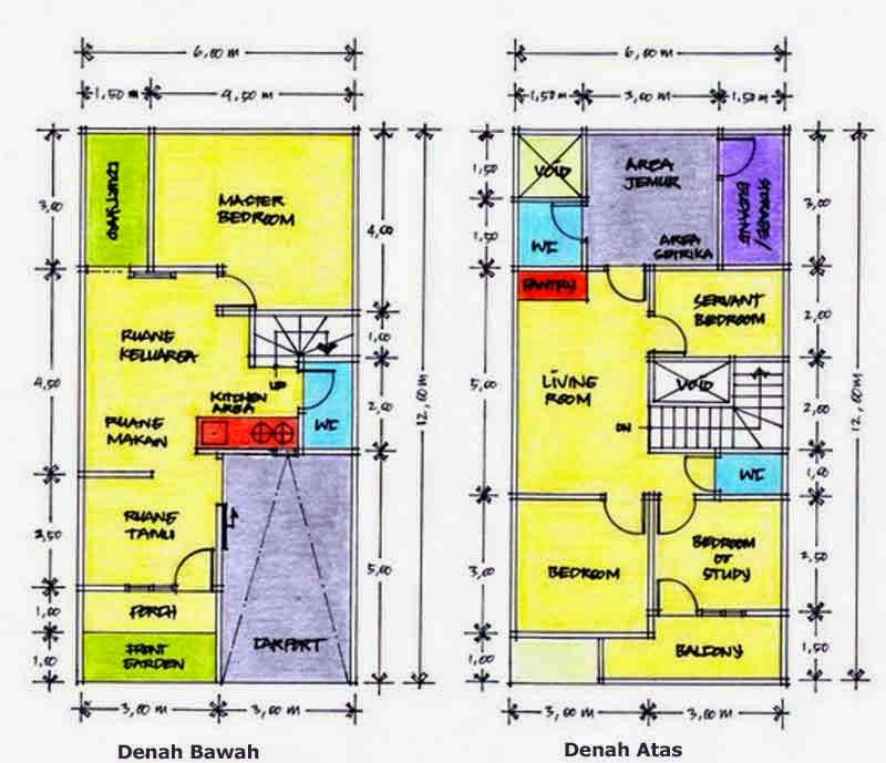 denah rumah minimalis 2 lantai type 21 terbaru 2017 1001