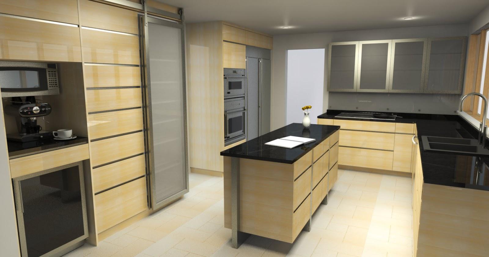 Devon ross cg architectural visualization for Kitchen designs sketchup