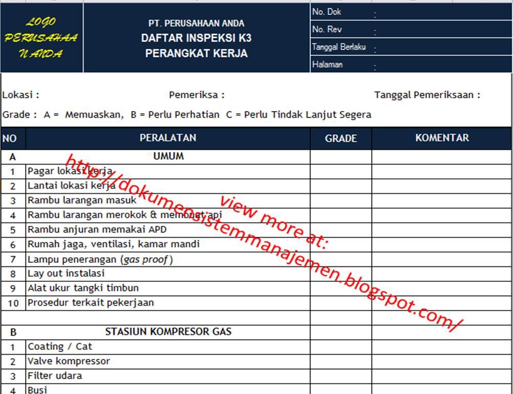 Form Daftar Inspeksi_Site