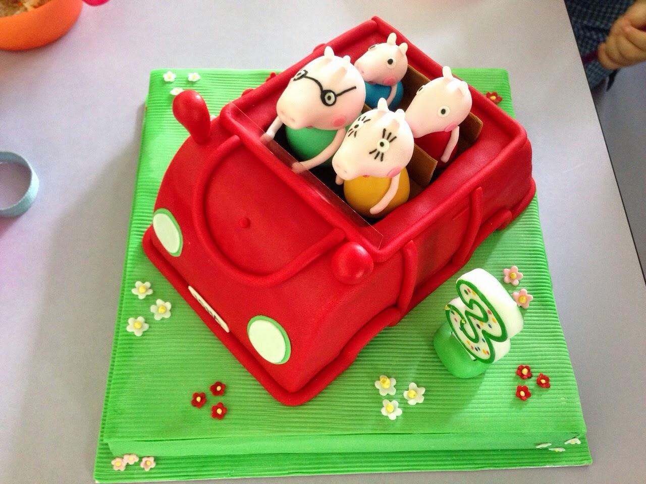 Peppa Pig Family Car Cake Crissas Cake Corner