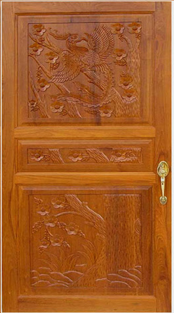 Front door pictures kerala model wood dsigns wood design for Single door design for home