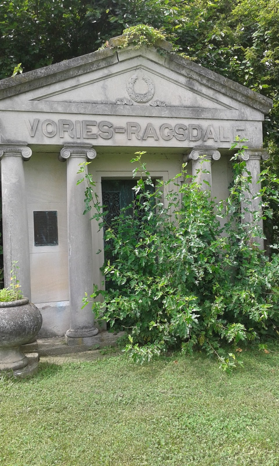 Indiana knox county ragsdale - This Is A Mausoleum In The Back Of The Cemetery That Is For The Vories Ragsdale Family